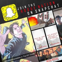Join MissionMovie on Snapchat for an exclusive message from Tom Cruise! #MissionImpossible