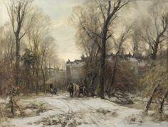 Louis Apol, Bezuidenhout in winter, The Hague