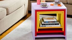 When it becomes a bit of a squeeze in your living room, these four fun tables that fit neatly one inside the other are just the ticket. The tables can be made from one sheet of furniture-grade or marine plywood, which are strong and stable. The whole project will cost about $120, plus paint, and can be finished in a weekend.
