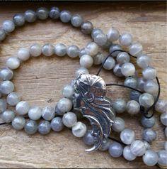 Moon Goddess, Arianrhod mala, goddess prayer beads, goddess mala, goddess rosary, celtic prayer beads, celtic mala, priestess prayerbeads by MagickAlive on Etsy