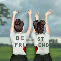 A true friend is a human who, while your . A true friend is a person who sees your laughter, but feels your soul is crying Best Friend Sketches, Friends Sketch, Best Friend Drawings, Girly Drawings, Cute Drawings Of Love, Cute Sketches, Cute Girl Drawing, Bff Pics, Best Friend Pictures