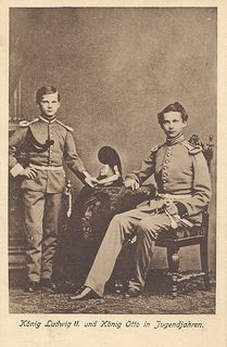 King Ludwig II and King Otto in their younger years. https://www.flickr.com/photos/joerookery/7794512580