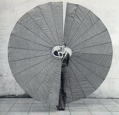 // Rebecca Horn, White Body Fan, 1973  Still from performance
