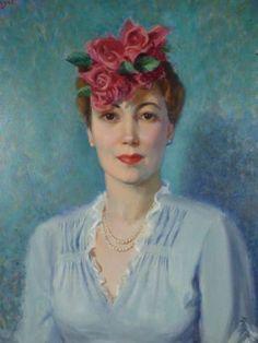 Arthur Pop Momand Lady Portrait Signed Original Oil Painting w Comic Sheet 1945 | eBay