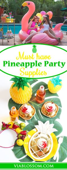 Must have Pineapple Party Decorations for the Best Summer Party!  Our Pineapple party supplies are perfect for a Flamingo Party or a Hawaiian Luau!