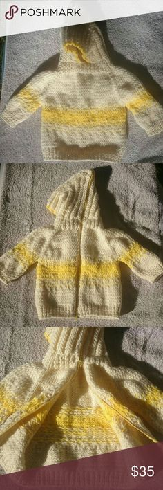 Spotted while shopping on Poshmark: Hand Knit Back Zipper Hooded Baby Sweater! #poshmark #fashion #shopping #style #Lobax #Other