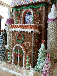 gingerbread house.  Impressive, to be sure, but I'm really loving the stacked starlight mint trees!