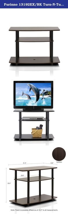 Furinno 13192EX/BK Turn-N-Tube No Tools 3-Tier TV Stand, Espresso/Black. Furinno Turn-N-Tube Home Living Mini Storage and Organization Series: No Tools Entertainment Center . (1) Unique Structure: Open display rack, shelves provide easy storage and display of TV or other audio/video accessories. Suitable for any rooms. Designed to meet the demand of low cost but durable and efficient furniture. It is proven to be the most popular RTA furniture due to its functionality, price and the no...