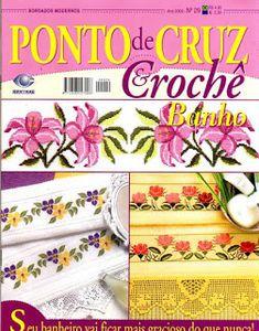 Cross stitch and crochet magazine Cross Stitch Magazines, Cross Stitch Books, Filet Crochet, Crochet Stitches, Book Crafts, Diy And Crafts, Craft Books, Bordados E Cia, Picasa Web Albums