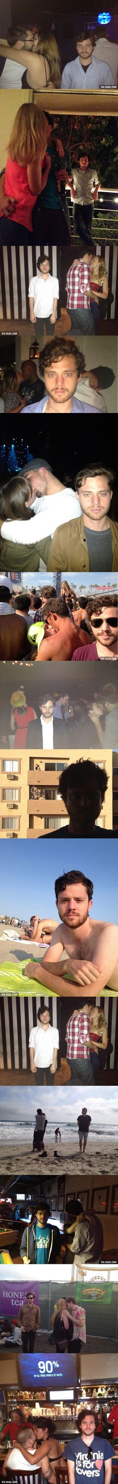 This Guy Takes Selfies With Couples Making Out In Public And It's Triumphant