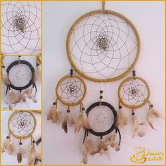 Dreamcatcher: 30cm in diameter (Big Ring) x 60cm long.  Price: MP  Accepted orders.