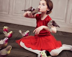 BABY DIOR AW2013 #DIOR #FASHION #BABY DIOR #RED