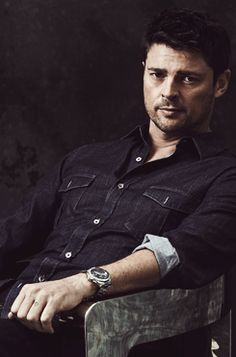 Almost Human cast pix - Karl Urban. I don't think I've pinned this one before, and the question I've got to ask myself is...why the heck not?