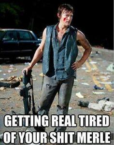 Daryl Dixon, The Walking Dead zombies LOL Merle Dixon Norman Reedus
