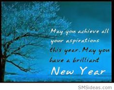 Brilliant new year sms wish