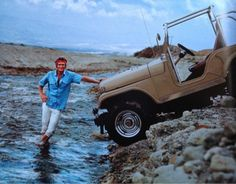 Steve McQueen and his Jeep
