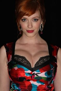 46 Photos Of Christina Hendricks with her Plush Pleasurable Pillows of Passion In Honor Of National Cleavage Day