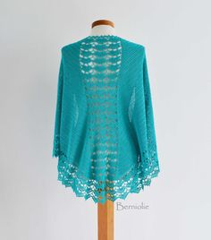 INSTANT DOWNLOAD SPRING Crochet shawl pattern by BernioliesDesigns