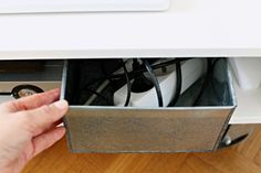 Chez Larsson: (a lovely blog by the way) stylish and neat idea to hide ugly cables. Think...TV stuff, Office stuff etc.