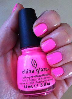 China Glaze- Shocking Pink. My favorite hot pink. @icravedrama