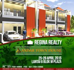 Pameran Andar Town House di Blok M Plaza lantai 6 tanggal 25-26 april 2015 By Regina Realty  www.reginarealty.co.id https://twitter.com/reginarealty8 reginarealty.pondokindah@gmail.com
