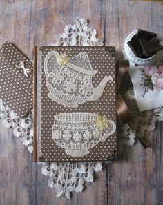 Tea party recipe book, blank recipe book, receipt book, recipe journal, cookbook, rezeptbuch, rezeptheft, recipe organiser, kitchen book