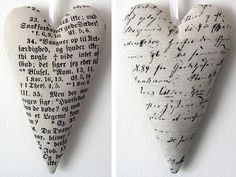 Printed fabric hearts
