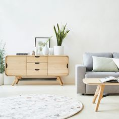 Decoration Buffet, Rattan Furniture, Room Inspiration, Nightstand, Storage, Wood, Table, Home Decor, Fibres