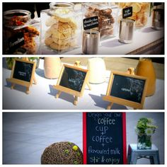 Cookie & Coffee Bar  (could be cute for a wedding or other celebration) Coffee Bar Wedding, Drink Stations, Candy Display, Family Picnic, Coffee Bars, Breakfast Ideas, Wedding Cookies, Wedding Receptions, Wedding Events