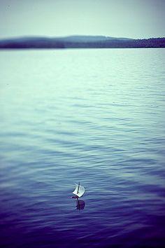 {kaarnalaiva} a bark ship on lake Inari::via flickr myyra_ug