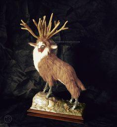 Forest Spirit furred sculpture ( Princess Mononoke ) EnvyDolls on Etsy