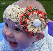 Ravelry: Chrysanthemum Baby Headband pattern by Ann Parri