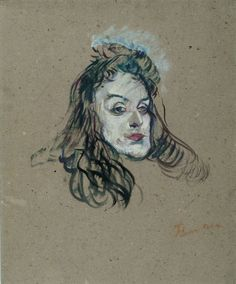 Henri de Toulouse-Lautrec (French, 1864 -1901) - The Portrait of May Belfort, 1895