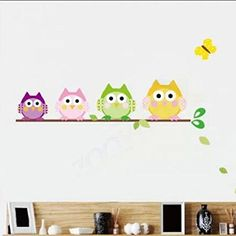 Mothercare Loved So Much Wall Stickers. HuaYang Cute Cartoon Owl Family  Nursery Baby Room Wall Stickers Vinyl Art Decor Decal(Style Part 38