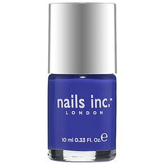 This is the most beautiful, perfect blue. It's my favorite color by far. It's just so striking. By nails inc. Nail Polish Sephora #SephoraSweeps