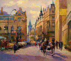 Золотая Прага на картинах художника Vladimir Fechyk