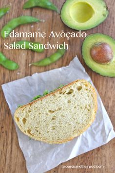 edamame-avocado-salad-sandwich5 substitute in some wheat bread and bam