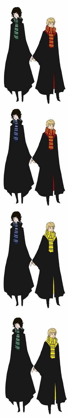 sherlock and john potter by ~hypoxial-homocide on deviantART
