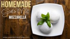 Homemade Goat Milk Mozzarella| There is really nothing better than homemade mozzarella. #pioneersettler