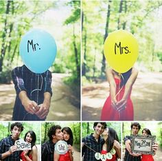 Some potentially cute picture ideas for save the date cards or just engagement pictures.