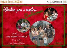 Chevron Mickey Monogram Disney Inspired Christmas Card | Disney ...