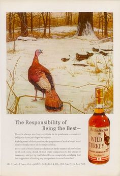 1970 A History of Print Ads from Wild Turkey Bourbon