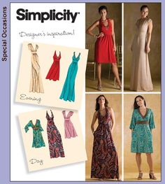 Simplicity 3503 -- made this in a grey knit, knee length. Next time I'll make a few alterations, but this was an easy pattern and the dress is simple and pretty.