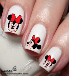 Minnie Mouse Face Disney Nail Art Sticker Water Transfer Decal