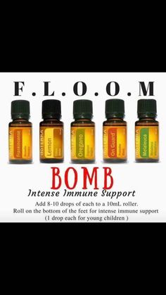Feeling under the weather? FLOOM is the answer! Powerful essential oils that are antiviral and antibacterial. Frankincense, Lavender, Oregano, On Guard and Melaleuca Oregano Essential Oil, Essential Oils For Colds, Oregano Oil, Essential Oil Diffuser Blends, Essential Oil Uses, Doterra Oils, Easential Oils, Doterra Blends, Oil Benefits