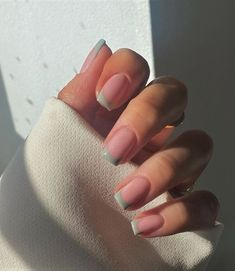 Ongles Gel French, French Tip Acrylic Nails, French Manicure Nails, Square Acrylic Nails, Best Acrylic Nails, Gel Nails, Chic Nails, Dope Nails, Stylish Nails