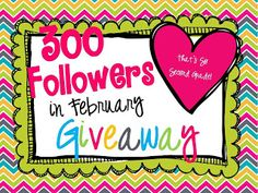 That's So Second Grade 300 Followers Giveaway (including $20 to TPT!)