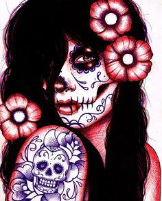 Sugar Skull make up is a definite costume winner! Call me 708.418.8044