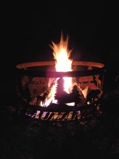 Sitting around the bonfire!