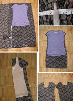 DIY t shirt into lace dress 3 interesting tutorials